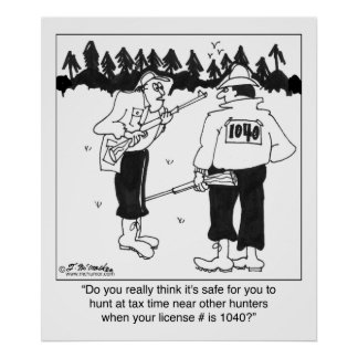 Licencia de caza 1040 póster