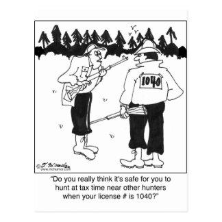Licencia de caza 1040 tarjetas postales