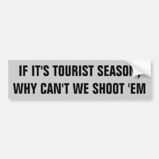 ¿Licencia de caza de la estación turística? Pegatina Para Auto