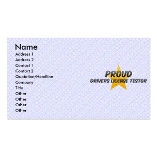 Licencia de conductores orgullosa Testor Plantillas De Tarjetas Personales