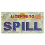 Licencia de derramarse placa de matrícula