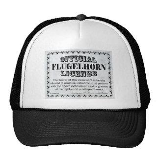 Licencia de Flugelhorn Gorras