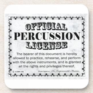 Licencia de la percusión posavasos