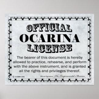 Licencia de Ocarina Póster