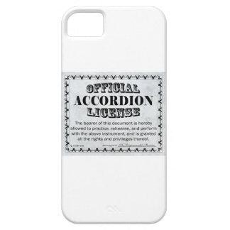 Licencia del acordeón funda para iPhone SE/5/5s