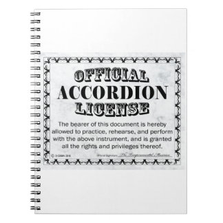Licencia del acordeón libros de apuntes