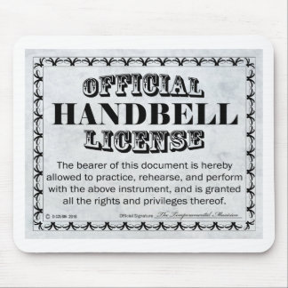 Licencia del Handbell Mouse Pad