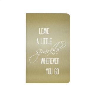 Licencia del oro una poca cita de la chispa cuaderno