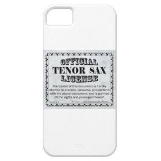 Licencia del saxo tenor funda para iPhone SE/5/5s