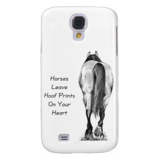 Licencia Hoofprints de los caballos en su corazón: Funda Para Galaxy S4