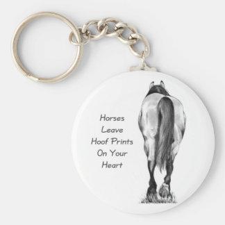Licencia Hoofprints de los caballos en su corazón: Llaveros