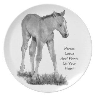 Licencia Hoofprints de los caballos en su corazón: Platos Para Fiestas