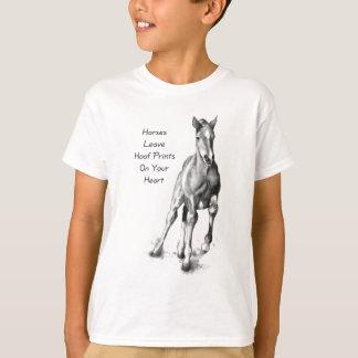 Licencia Hoofprints de los caballos en su corazón: Playera