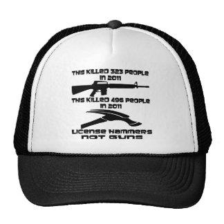 License Hammers Not Guns Trucker Hat