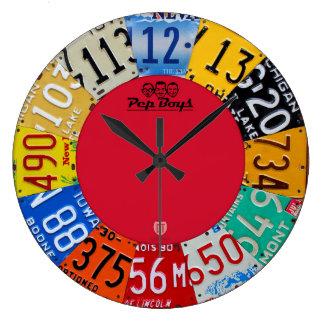 License Plate Art Clock Vintage Numbers New V1