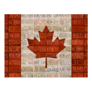 License Plate Art Flag Of Canada Postcard