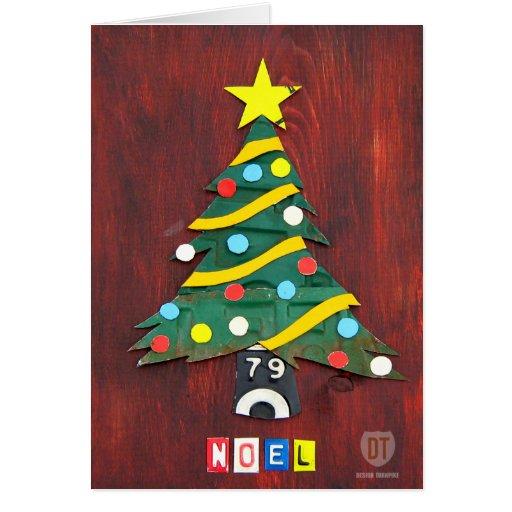 License Plate Art NOEL Christmas Greeting Card