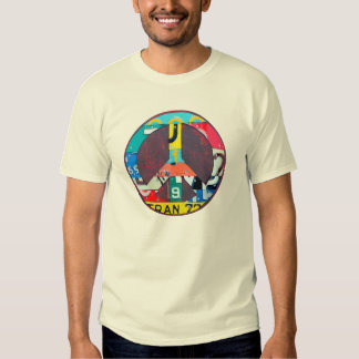 License Plate Art Peace Sign - Recycled Metal Tee Shirts