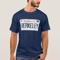 License Plate Berkeley California T Shirt