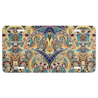 License Plate Cover Drawing Floral