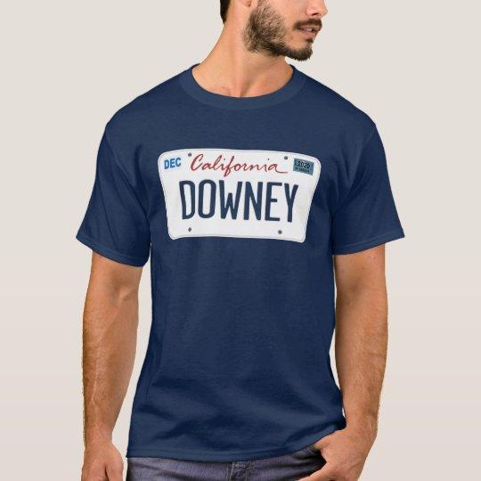 License Plate Downey California T Shirt