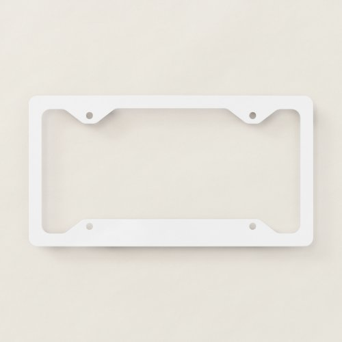 License Plate Frame _ Style A