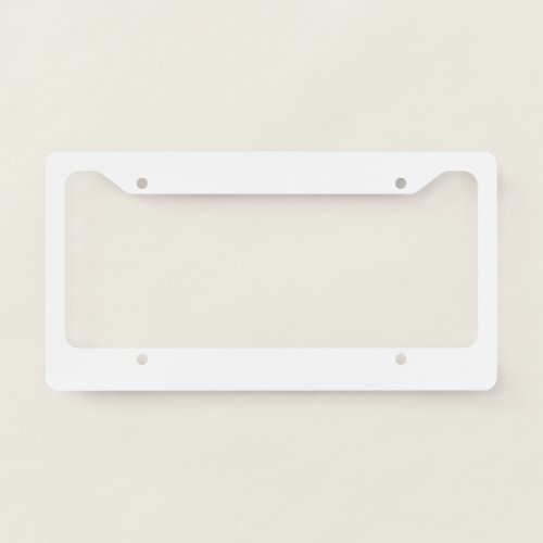 License Plate Frame _ Style C
