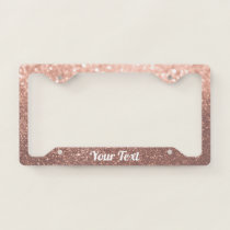 License Plate Frame - Your Text Rose Gold