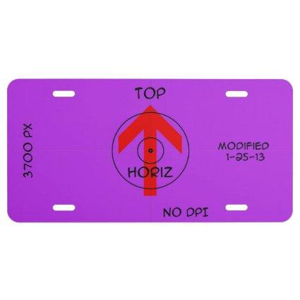 license plate - horiz license plate