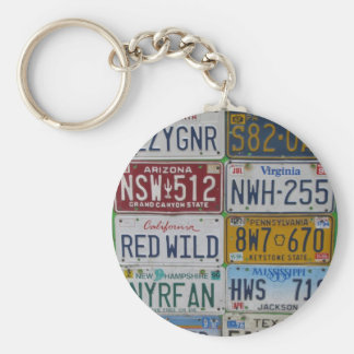 License Plate Lovers Keychain