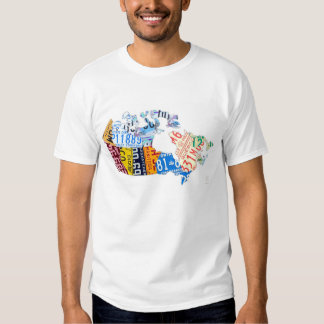 License Plate Map of Canada Shirt