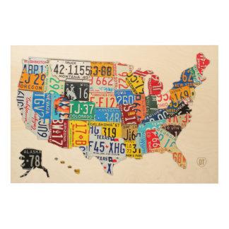 Usa Map Wood Wall Art Zazzle - Usa map design