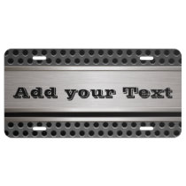 License Plate - Men's Carbon Steel Design