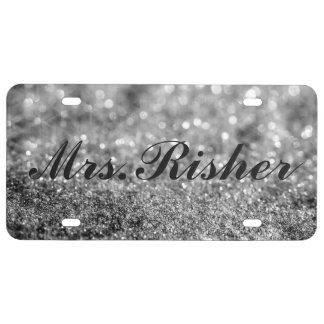 License Plate - Mrs. Glitter