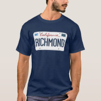 License Plate Richmond California T Shirt