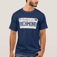 License Plate Richmond California T Shirt