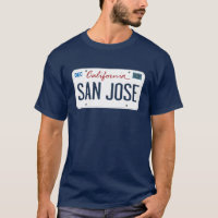 License Plate San Jose California T Shirt