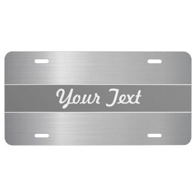 Personalized Rose Gold Stainless Steel Metallic License Plate Zazzle