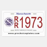 License Plate Sticker Sheet