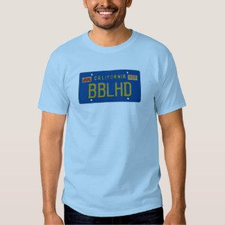 License plate tee shirt