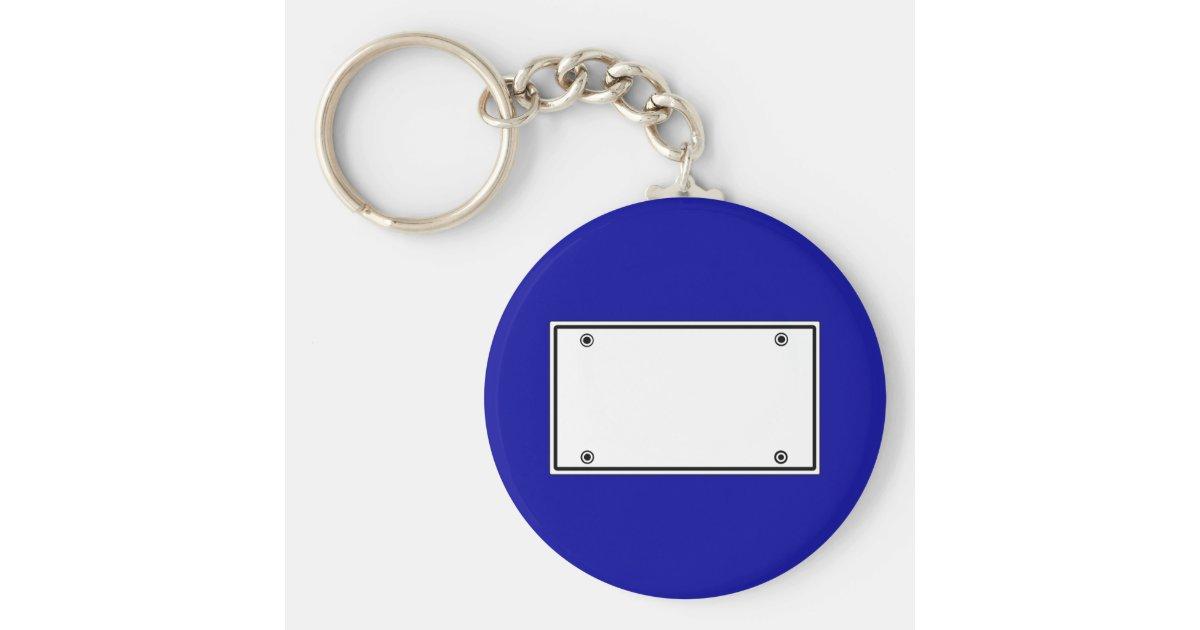 License Plate Template Keychain Zazzle Com