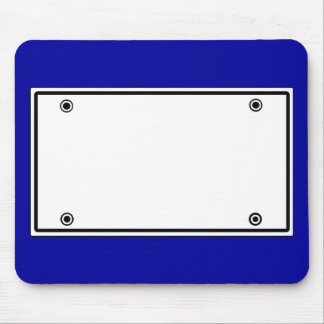 License plate template mouse pad