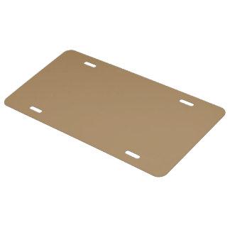 License Plate uni Gold