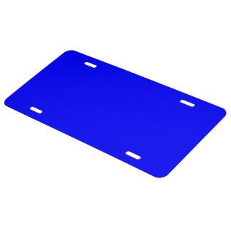 License Plate uni Royal Blue