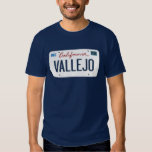 License Plate Vallejo California T Shirt