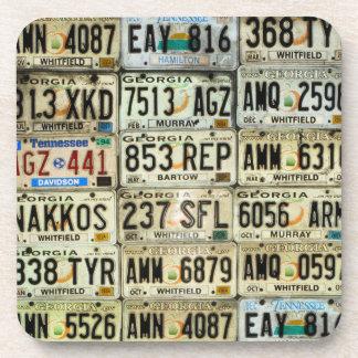 License Plates Beverage Coaster