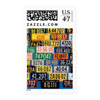 License Plates by H. Wilson Smith Postage Stamp