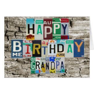 License Plates Grandpa Birthday Card