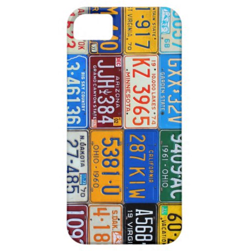 License Plates of USA - Our Colorful History iPhone 5 Covers