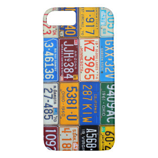 License Plates of USA - Our Colorful History iPhone 7 Case